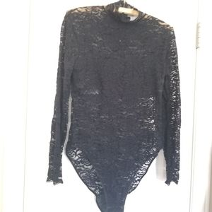 Liptons International vintage lace body suit